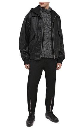 Мужские кожаные кеды RBRSL черного цвета, арт. 7Y2021U.Y44C6NB001 | Фото 2