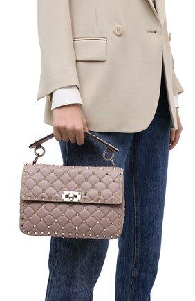 Женская сумка valentino garavani rockstud spike VALENTINO бежевого цвета, арт. UW0B0122/NAP | Фото 2