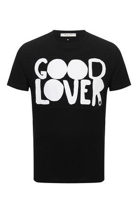 Мужская хлопковая футболка VALENTINO черного цвета, арт. UV0MG08U6Y3 | Фото 1