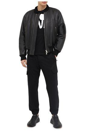 Мужская хлопковая футболка VALENTINO черного цвета, арт. UV0MG08U6Y3 | Фото 2