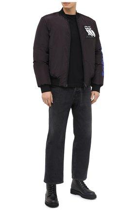 Мужская хлопковая футболка VALENTINO черного цвета, арт. UV0MG10V6WQ | Фото 2