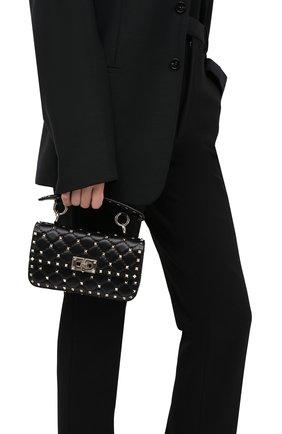 Женская сумка valentino garavani rockstud spike VALENTINO черного цвета, арт. UW0B0123/NAP | Фото 2