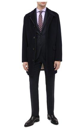 Мужская хлопковая сорочка LUIGI BORRELLI сиреневого цвета, арт. EV08/FELICE/TS30851 | Фото 2