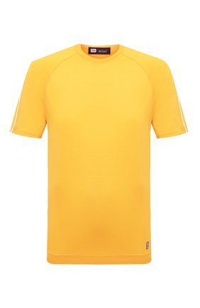 Мужская шерстяная футболка Z ZEGNA желтого цвета, арт. VV390/ZZT705 | Фото 1