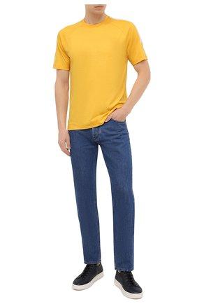 Мужская шерстяная футболка Z ZEGNA желтого цвета, арт. VV390/ZZT705 | Фото 2