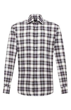 Мужская хлопковая рубашка ERMENEGILDO ZEGNA серого цвета, арт. UVX21/SRF5 | Фото 1