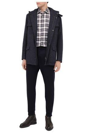 Мужская хлопковая рубашка ERMENEGILDO ZEGNA серого цвета, арт. UVX21/SRF5 | Фото 2
