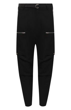 Мужской брюки из хлопка и шерсти ANDREA YA'AQOV черного цвета, арт. 21MC0W51 | Фото 1