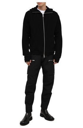 Мужской брюки из хлопка и шерсти ANDREA YA'AQOV черного цвета, арт. 21MC0W51 | Фото 2
