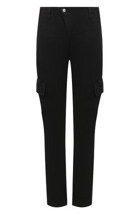Мужской хлопковые брюки-карго ANDREA YA'AQOV черного цвета, арт. 21MDEN06 | Фото 1