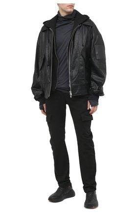 Мужской хлопковые брюки-карго ANDREA YA'AQOV черного цвета, арт. 21MDEN06 | Фото 2