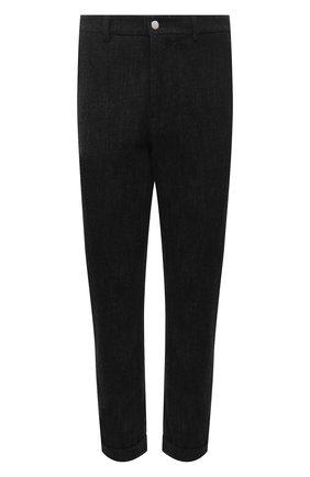 Мужской брюки из хлопка и шерсти ANDREA YA'AQOV черного цвета, арт. 21MFAI33 | Фото 1
