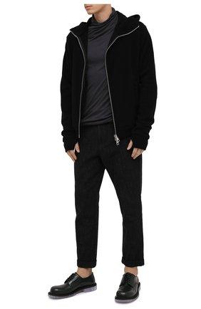 Мужской брюки из хлопка и шерсти ANDREA YA'AQOV черного цвета, арт. 21MFAI33 | Фото 2
