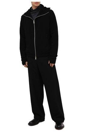 Мужской шерстяные брюки ANDREA YA'AQOV черного цвета, арт. 21MTIT57 | Фото 2