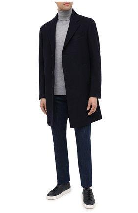 Мужской шерстяное пальто Z ZEGNA синего цвета, арт. 897762/4DSGG0 | Фото 2