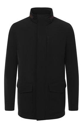 Мужская куртка ERMENEGILDO ZEGNA черного цвета, арт. UVT30/V215 | Фото 1