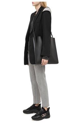 Женские кожаные кроссовки shegoes VALENTINO черного цвета, арт. UW2S0AB1/XZX | Фото 2