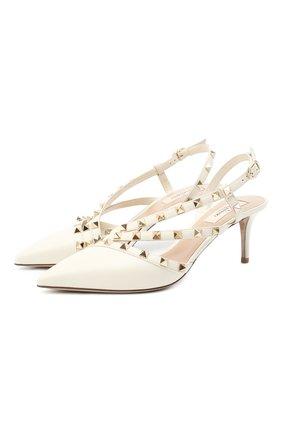 Женская кожаные туфли valentino garavani rockstud VALENTINO белого цвета, арт. UW0S0AM0/V0D | Фото 1