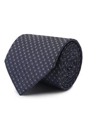 Мужской шелковый галстук ETON темно-синего цвета, арт. A000 32540 | Фото 1
