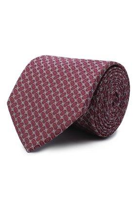 Мужской шелковый галстук ETON бордового цвета, арт. A000 32540 | Фото 1