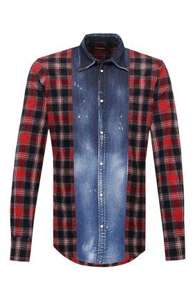Мужская хлопковая рубашка DSQUARED2 разноцветного цвета, арт. S71DM0432/S53167 | Фото 1