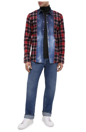 Мужская хлопковая рубашка DSQUARED2 разноцветного цвета, арт. S71DM0432/S53167 | Фото 2