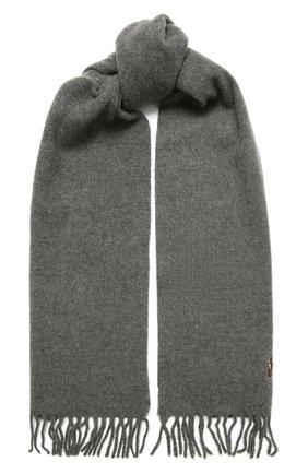 Мужской шерстяной шарф POLO RALPH LAUREN серого цвета, арт. 449727530 | Фото 1 (Материал: Шерсть; Кросс-КТ: шерсть)