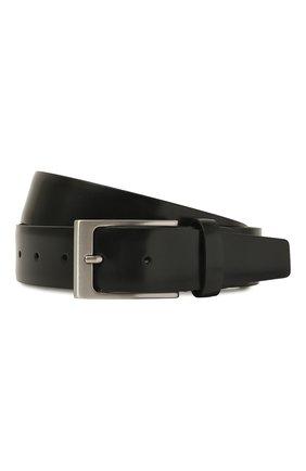 Мужской кожаный ремень CANALI черного цвета, арт. 50C/KA00034 | Фото 1