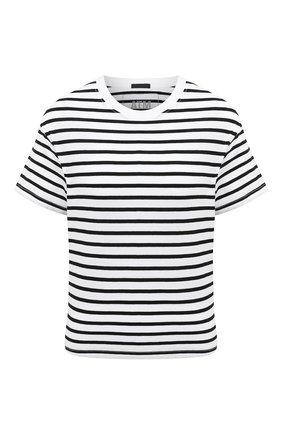 Женская хлопковая футболка ATM ANTHONY THOMAS MELILLO черно-белого цвета, арт. AW1321-GAB4 | Фото 1
