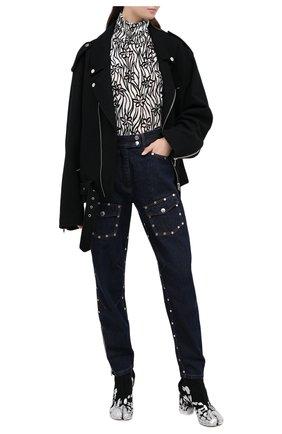 Женские джинсы DRIES VAN NOTEN синего цвета, арт. 202-30978-1385 | Фото 2