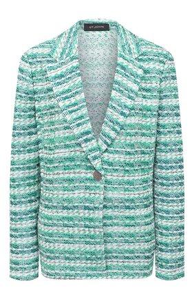 Женский жакет ST. JOHN зеленого цвета, арт. K6101D1 | Фото 1