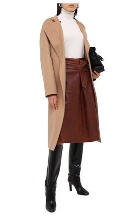 Женская кожаная юбка CHLOÉ коричневого цвета, арт. CHC20ACJ11205 | Фото 2