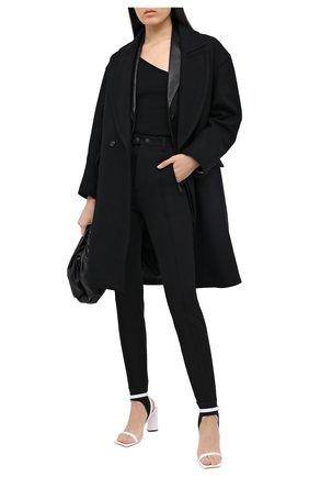 Женские брюки со штрипками DSQUARED2 черного цвета, арт. S72KA1039/S53311 | Фото 2