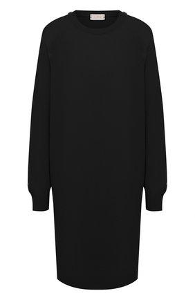 Женское платье из шерсти и кашемира MRZ черного цвета, арт. FW20-0145 | Фото 1