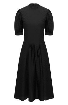 Женское шелковое платье GIORGIO ARMANI черного цвета, арт. 0WHVA06D/T01V0 | Фото 1