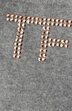 Женские носки TOM FORD серого цвета, арт. S00001-YAX280 | Фото 2