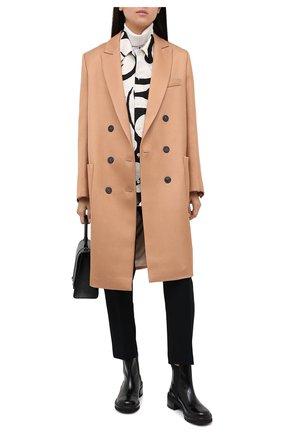 Женское пальто из вискозы и шерсти FORTE_FORTE бежевого цвета, арт. 7505 | Фото 2