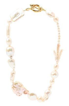 Женское колье TIMELESS PEARLY белого цвета, арт. N8   Фото 1