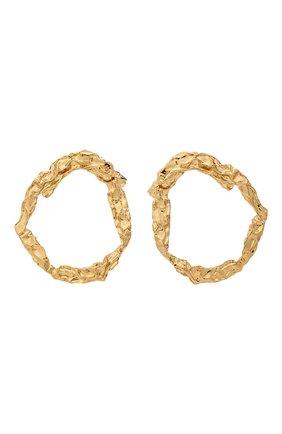 Женские серьги CHLOÉ золотого цвета, арт. CHC19AFE13CB7 | Фото 1 (Материал: Металл)