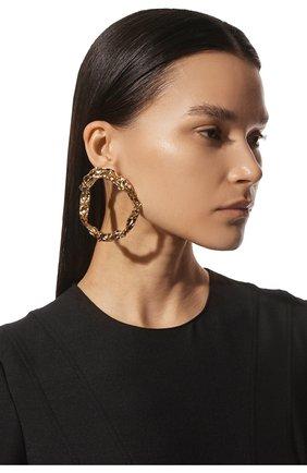 Женские серьги CHLOÉ золотого цвета, арт. CHC19AFE13CB7 | Фото 2 (Материал: Металл)