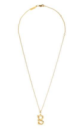 Женская кулон на цепочке CHLOÉ золотого цвета, арт. CHC20SF02BCB7 | Фото 1 (Материал: Металл)
