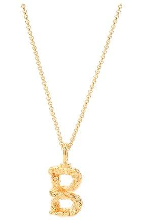 Женская кулон на цепочке CHLOÉ золотого цвета, арт. CHC20SF02BCB7 | Фото 2 (Материал: Металл)