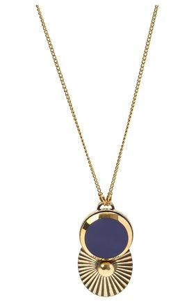 Женская кулон на цепочке ANTON HEUNIS синего цвета, арт. BBS1.02   Фото 2