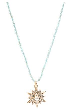 Женское колье ANTON HEUNIS голубого цвета, арт. TCT1.10   Фото 2