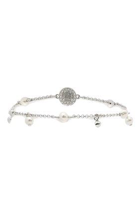 Женский браслет remix collection delicate pearl strand SWAROVSKI серебряного цвета, арт. 5560661 | Фото 1