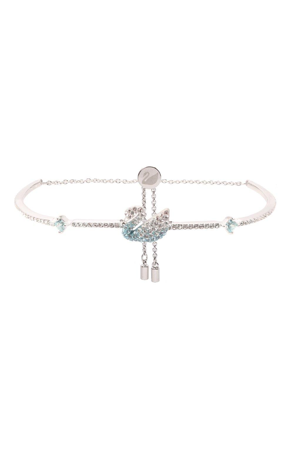 Женский браслет iconic swan SWAROVSKI серебряного цвета, арт. 5549312   Фото 1