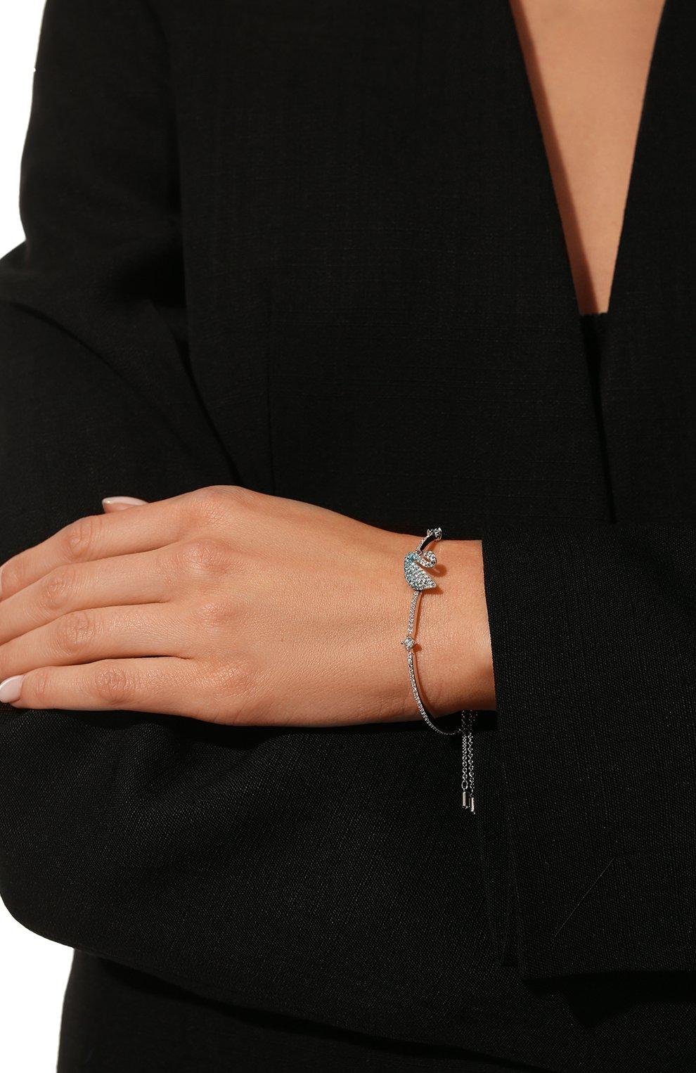Женский браслет iconic swan SWAROVSKI серебряного цвета, арт. 5549312   Фото 2