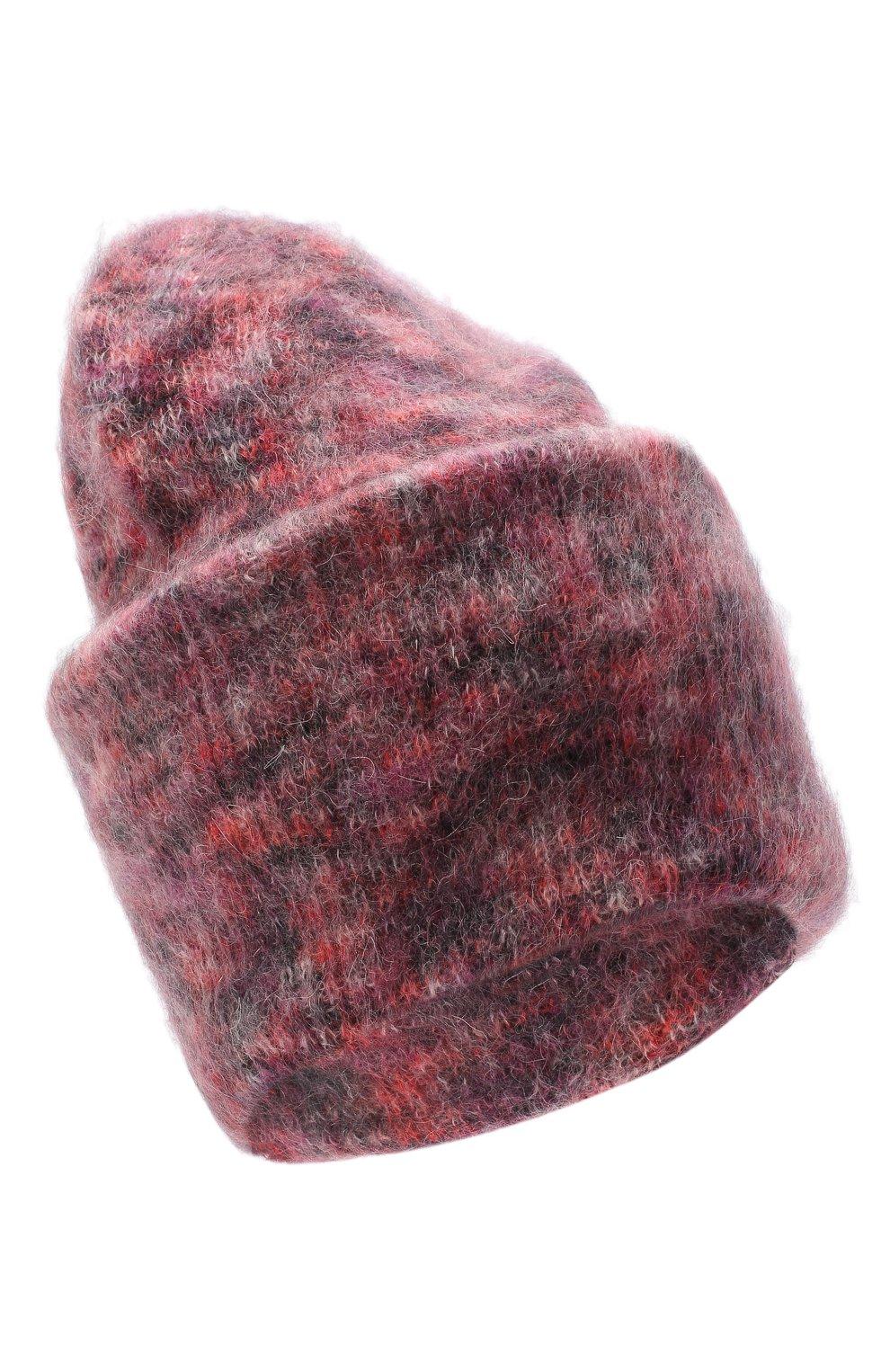 Женская шапка TAK.ORI фиолетового цвета, арт. HTK50027WM050AW19 | Фото 1 (Материал: Текстиль, Шерсть, Синтетический материал)