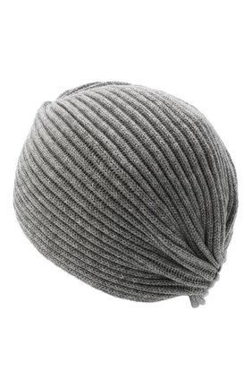 Женский кашемировый тюрбан INVERNI серого цвета, арт. 4880CM   Фото 2