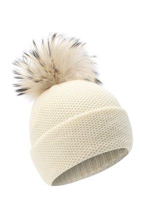 Женская кашемировая шапка INVERNI белого цвета, арт. 5080CM | Фото 1